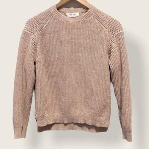 John + Jenn Back Knit Sweater with Horizontal Lace